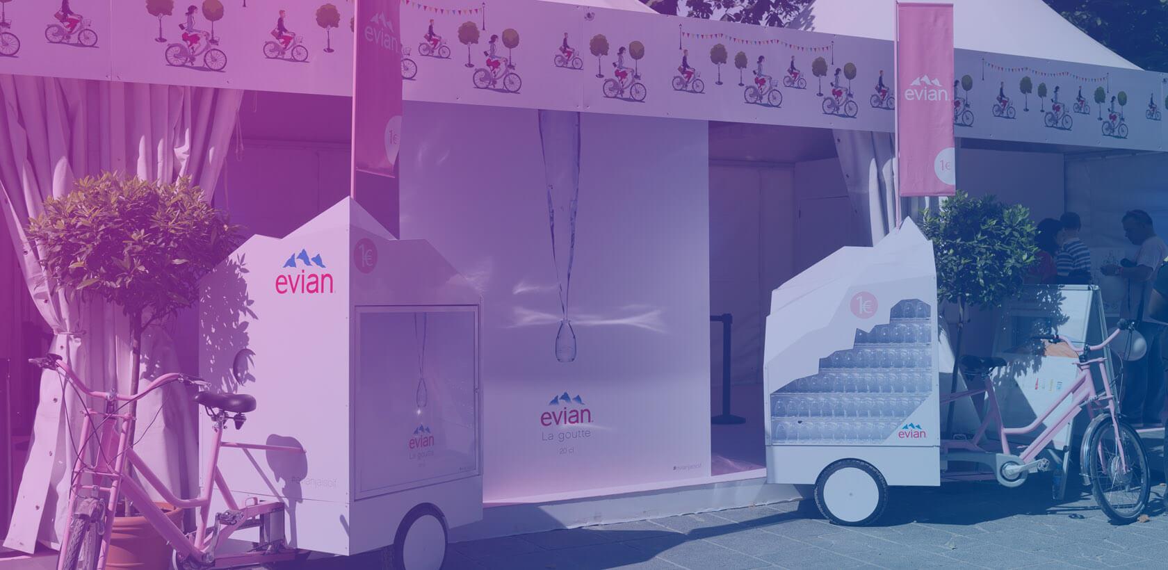 Evian Street Marketing - Globe Events Marketing