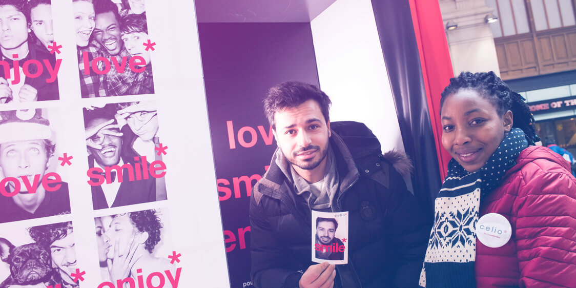 Celio #LOVESMILEENJOY - Pop'Up Store Evénementiel