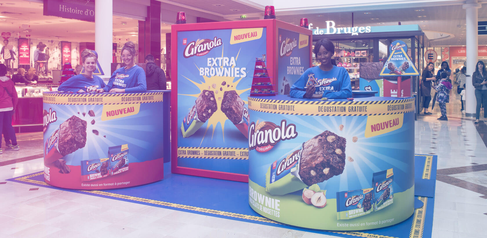 Animation commerciale Granola Extra Brownie - Mall Tour Globe