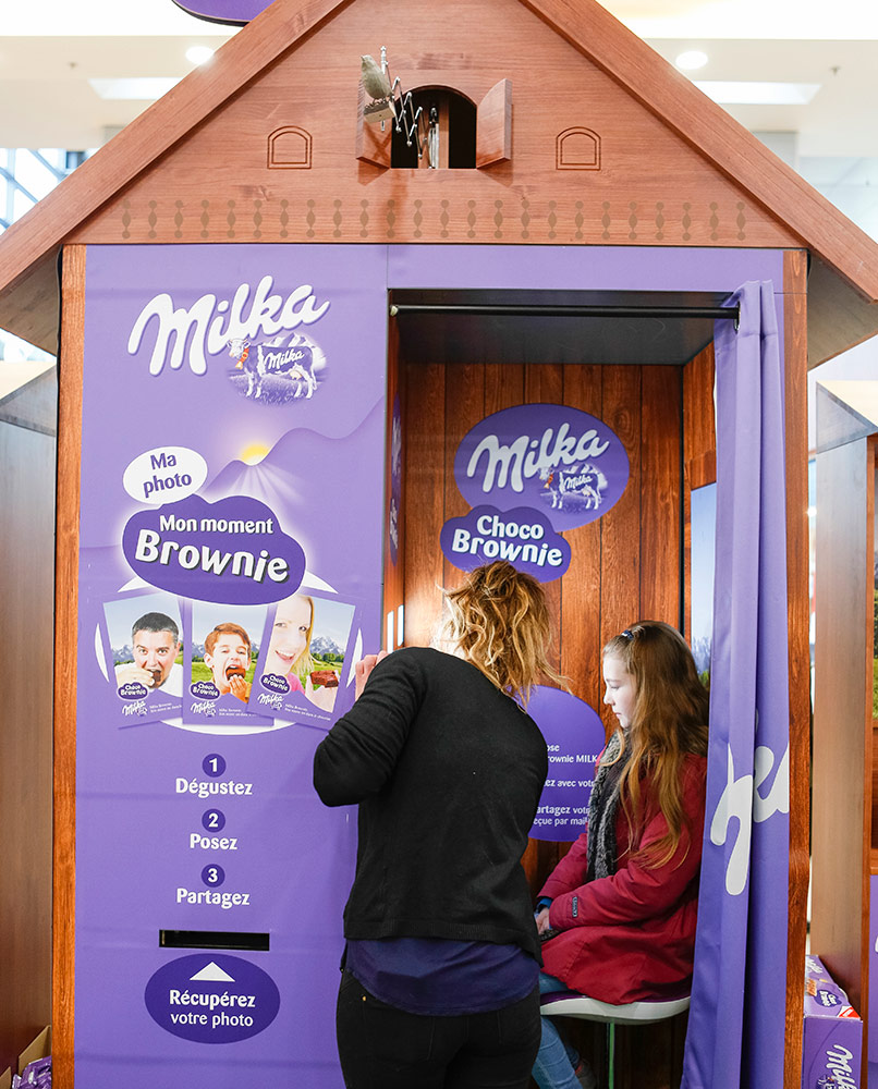 Animation commerciale Milka Brownie - Globe