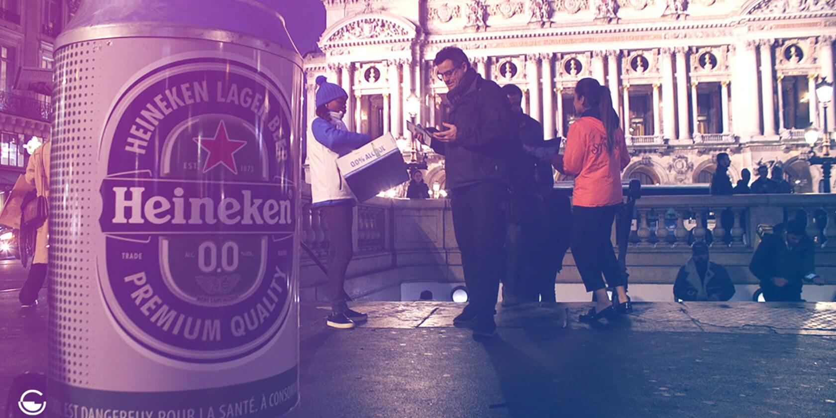 Street Marketing Heineken 0.0 - Globe Activation