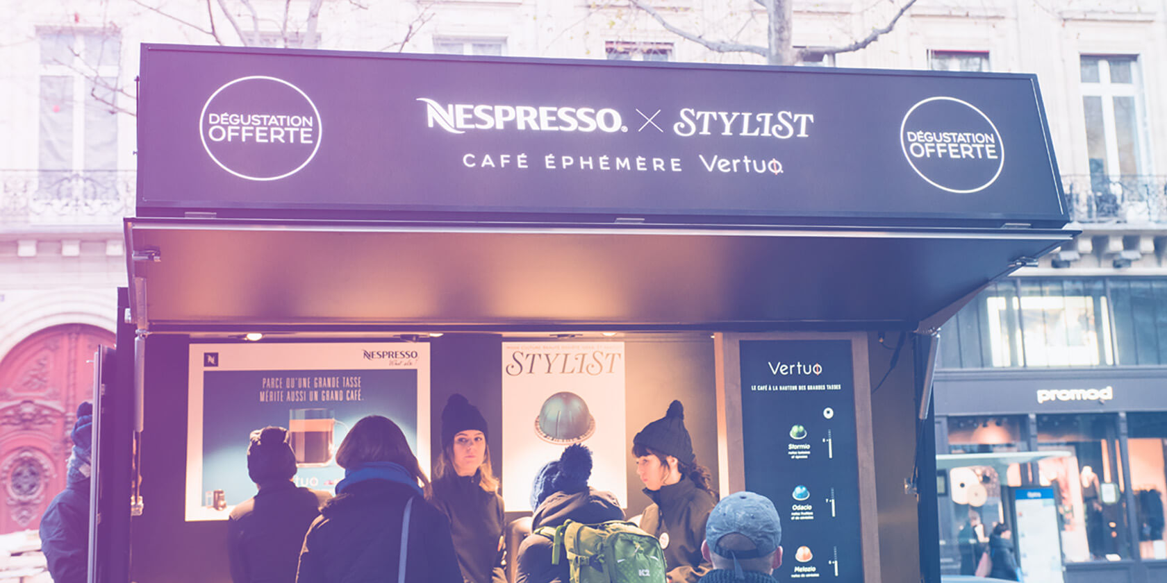 Roadshow Nespresso - Pop Up Store café éphémère Globe