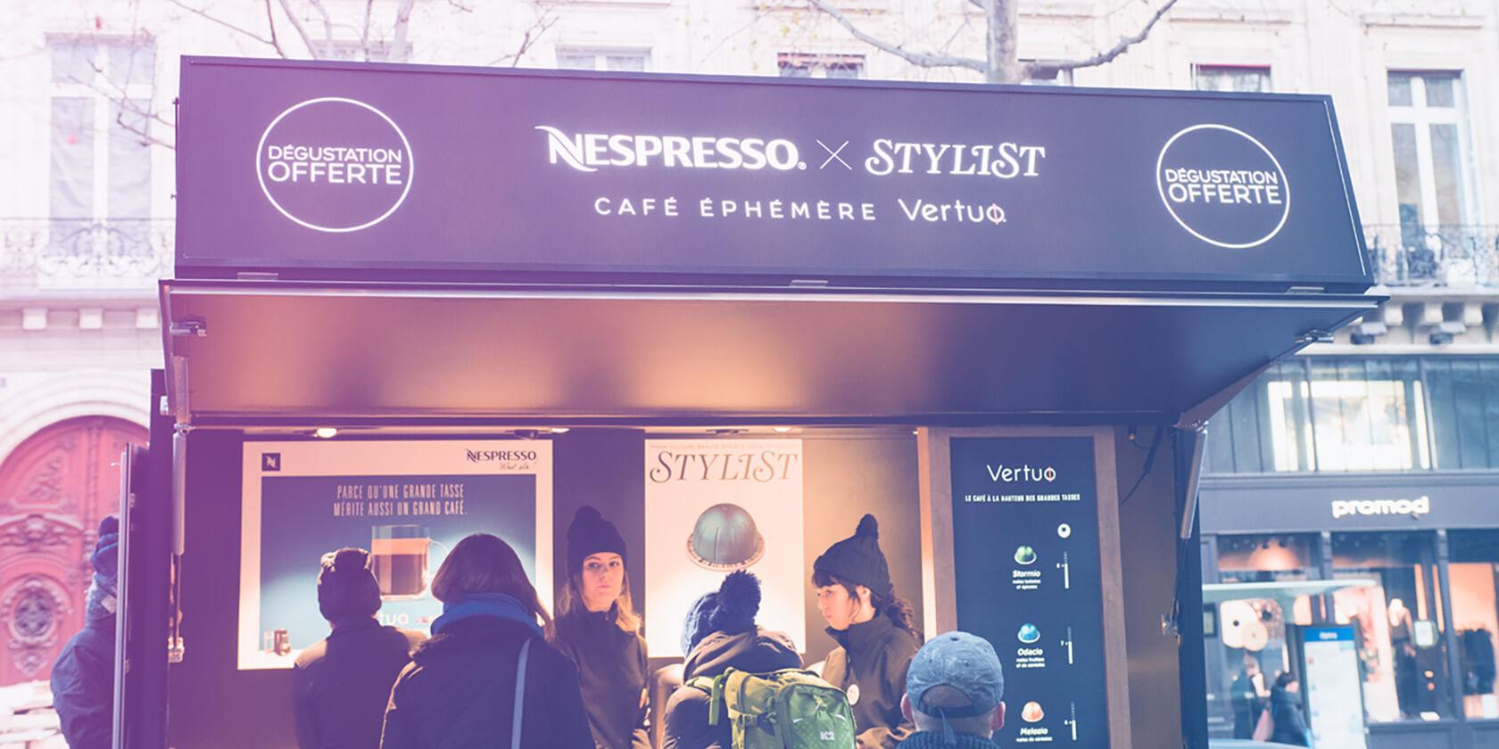Nespresso Roadshow - Cofee Pop Up Store by Globe