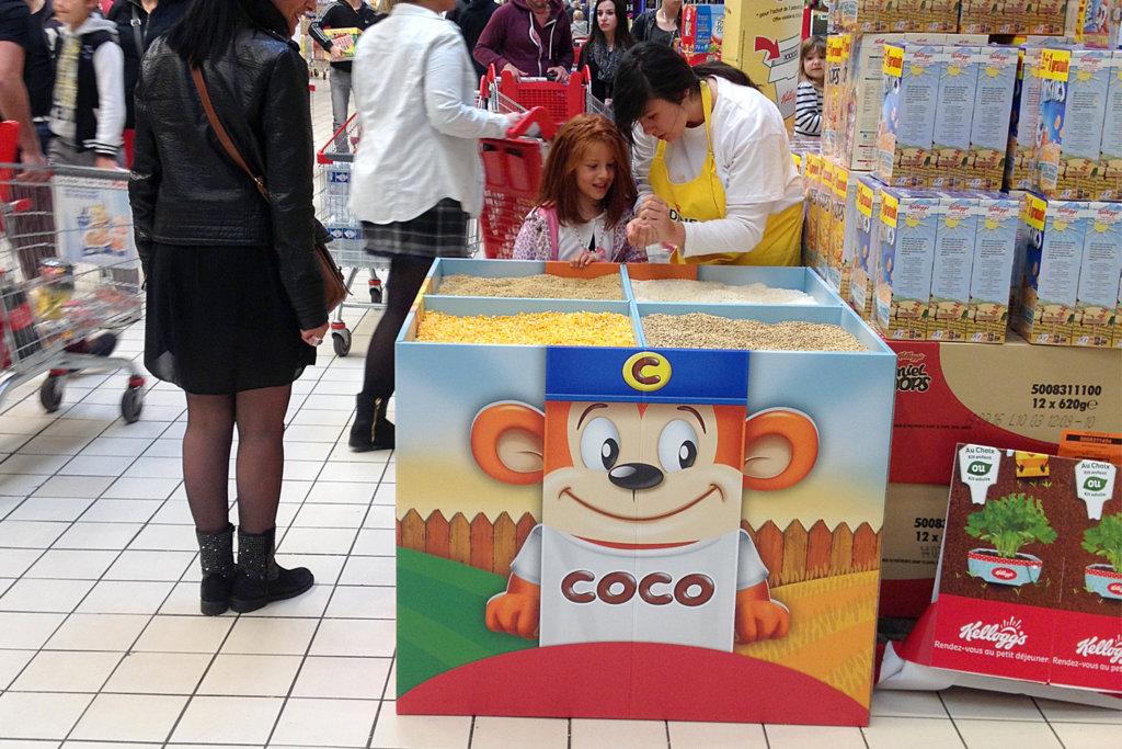 Opération marketing expérientiel In-store Kellogg's