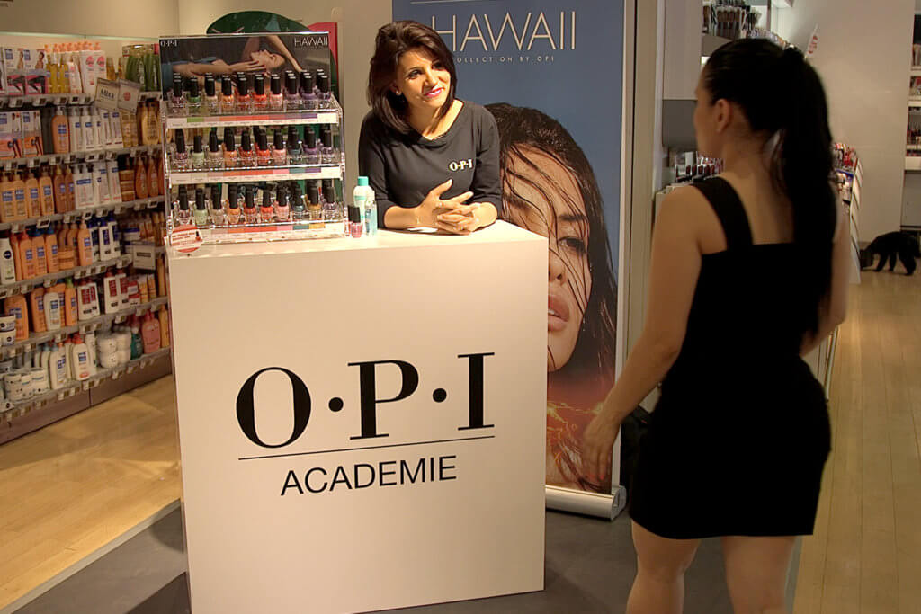 Opération marketing expérientiel In-store O.P.I