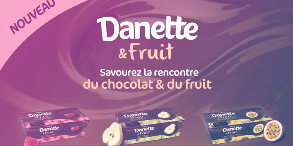 commercial animation Danette Fruits - Podiums Carrefour & Globe