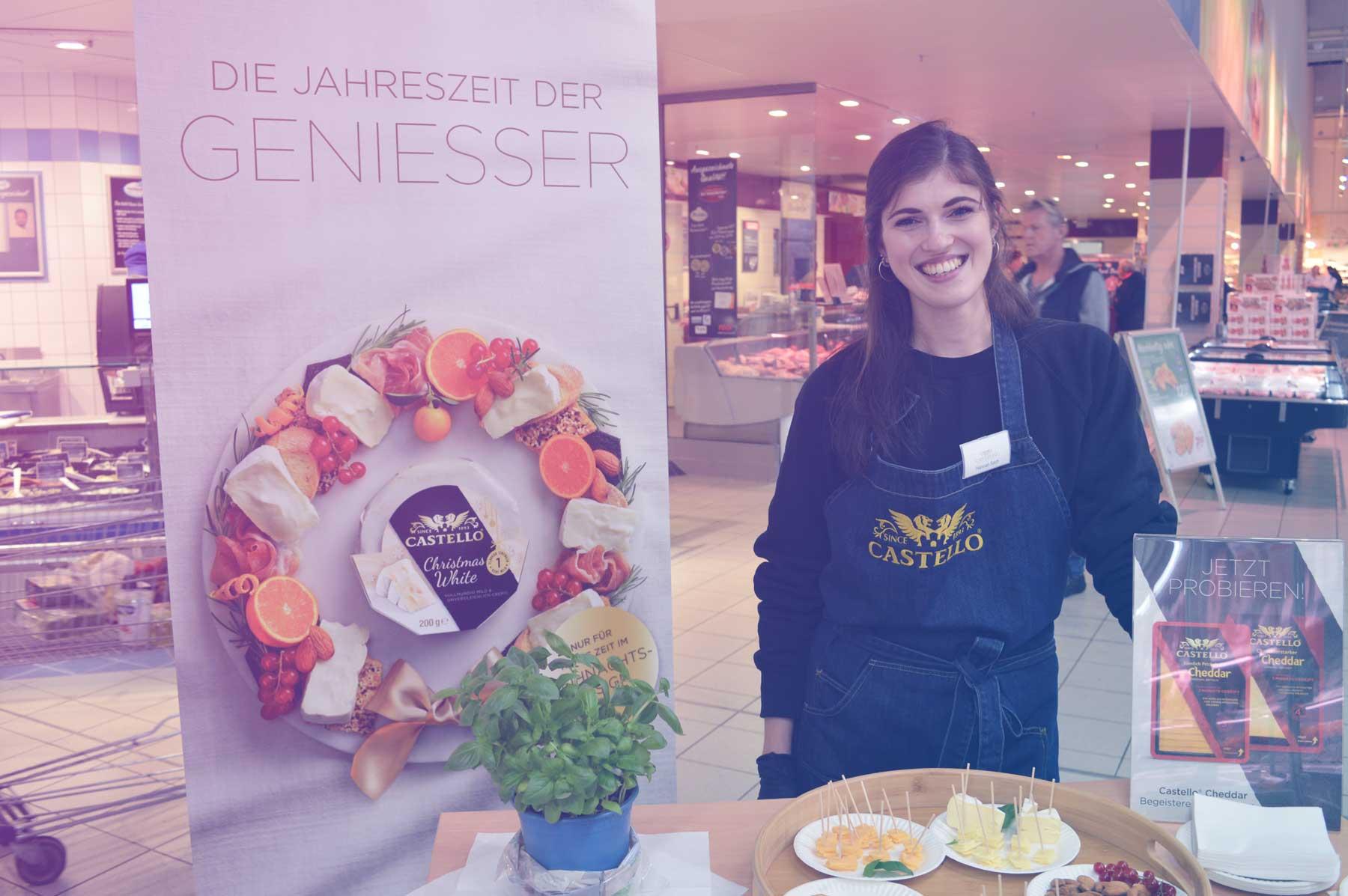 Foto Shopper Activation Aktion von GLOBE am PoS im Bereich Food / Lebensmittel.