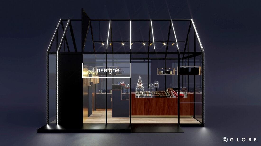 Pop-Up-Store von Globe