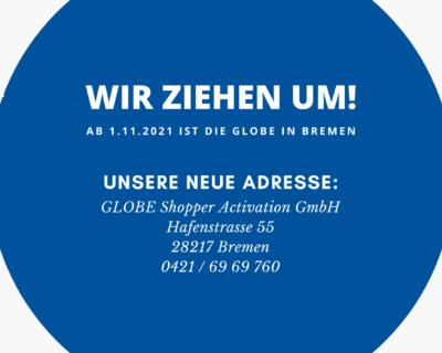 Promotionagentur Bremen – Grafik: GLOBE zieht um und ist ab dem 01.11.2021 in Bremen.